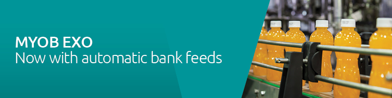 MYOB EXO now with automatic bank feeds